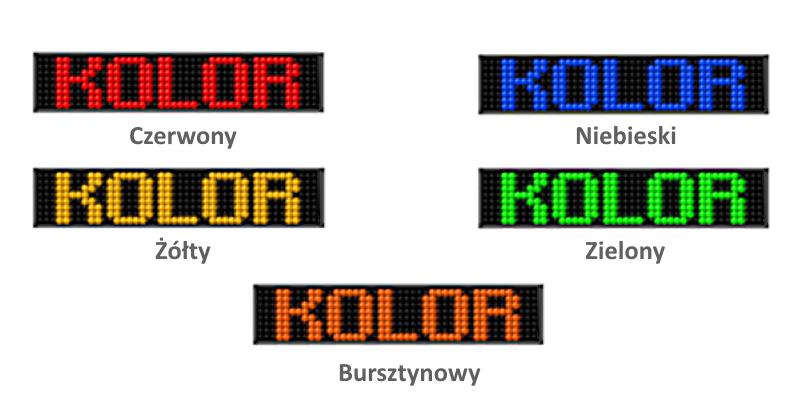 Kolory wyświetlaczy w systemie liczników ludzi